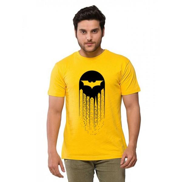 Yellow Batman Printed T shirt For Him