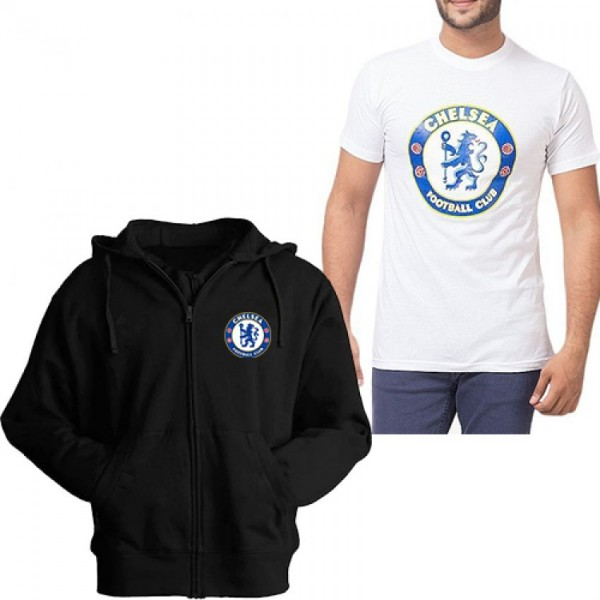 Pack of 1 Hoodie With Chalsea T shirt