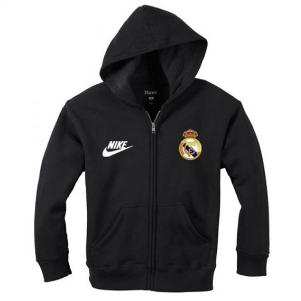 Madrid Logo Zipper Hoodie for him