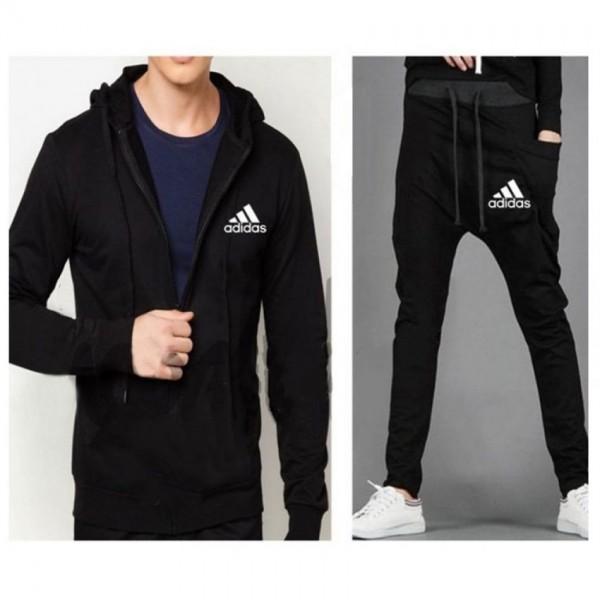 Nike Black hoodie With Black Fleece Trouser For him