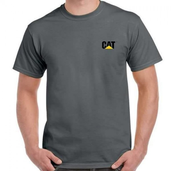 Steel Grey CAT logo T shirt For Him