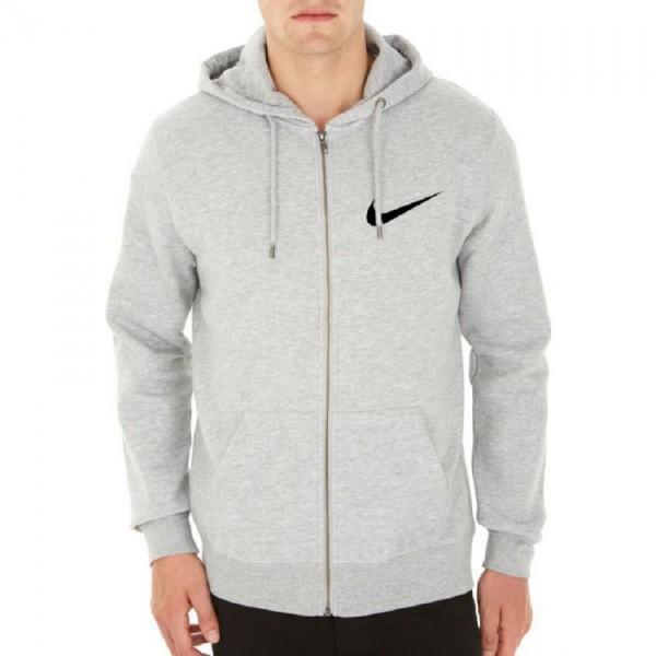 Grey Colour Zipper Hoodie for Boys