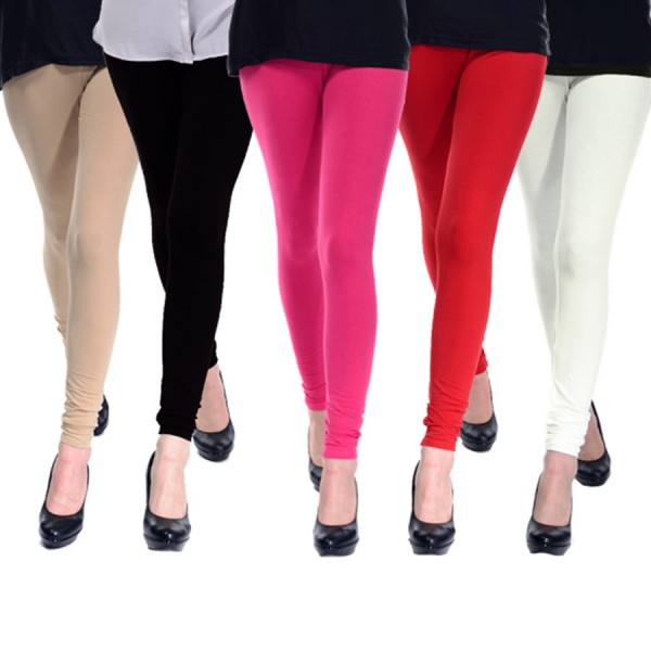 Pack Of 05 Plain Tights for Her