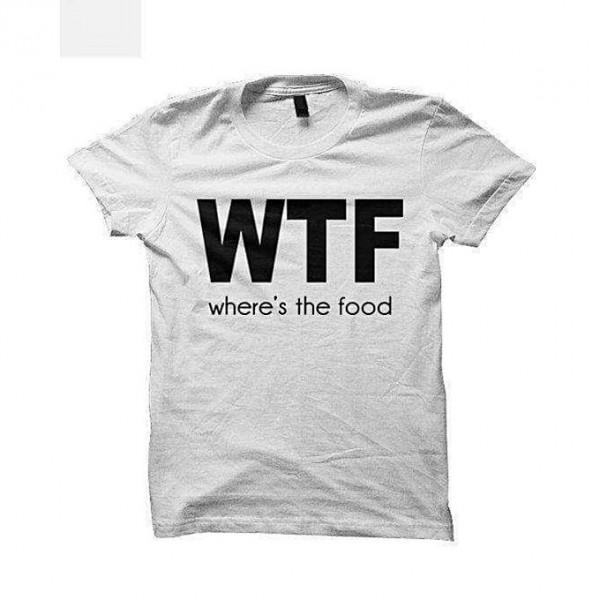White Color WTF printed T shirt For Him