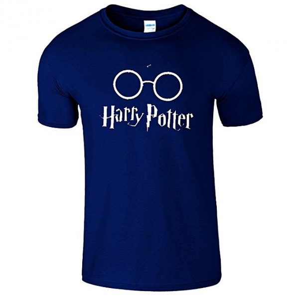 Navy Blue Half Sleeves Harry Potter T shirt For Him