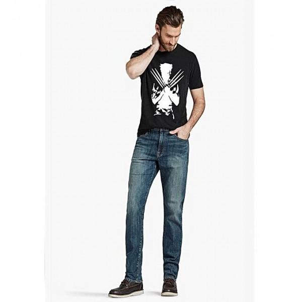 Black Wolverine Printed T shirt For Him