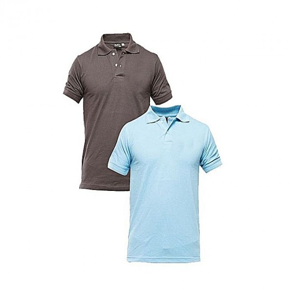 Pack of 02 Plain Polo Shirts For Him
