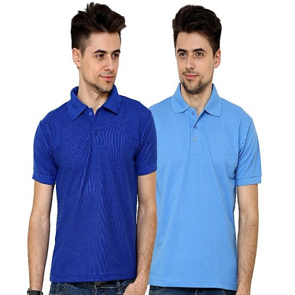 Pack of 02 Cotton Polo Shirts For Him