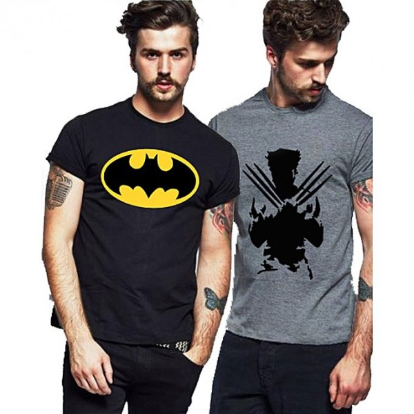 Pack of 02 Super Heroes Printed T shirts for Boys