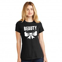 Black beauty printed t shirt for her