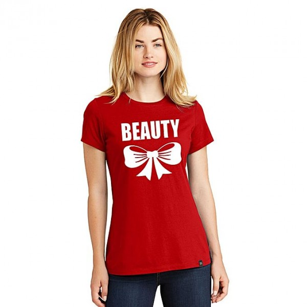 Red Beauty Printed T shirt For Her