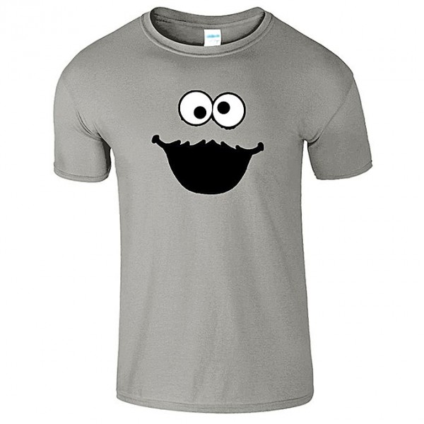 Grey Cookie Printed T shirt for Him