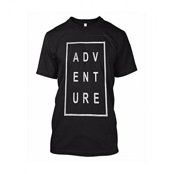Black Adventure Printed T shirt For Him