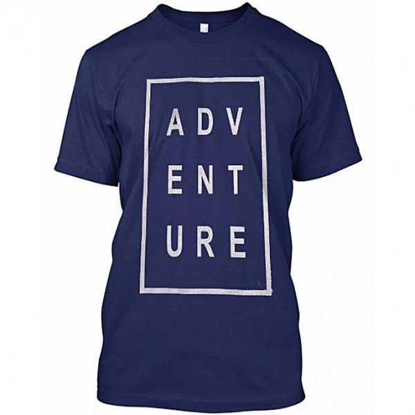 Navy blue Adventure Printed t shirt for him