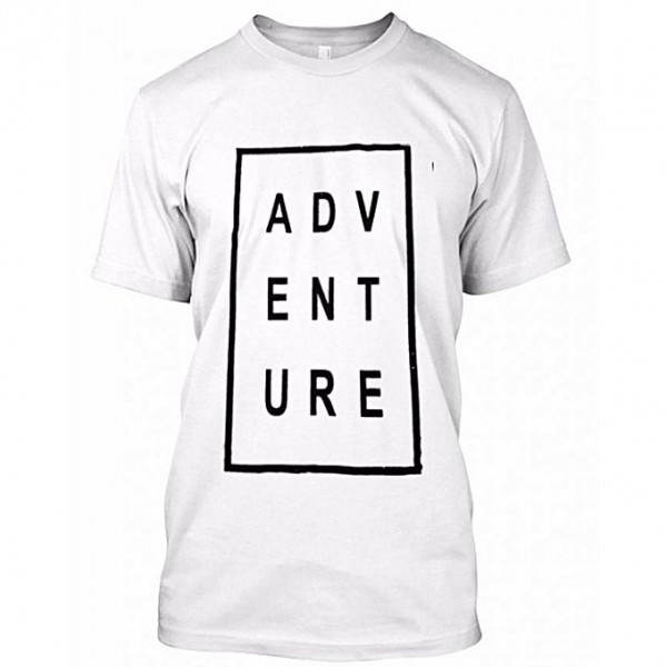 White Adventure Printed T shirt for him