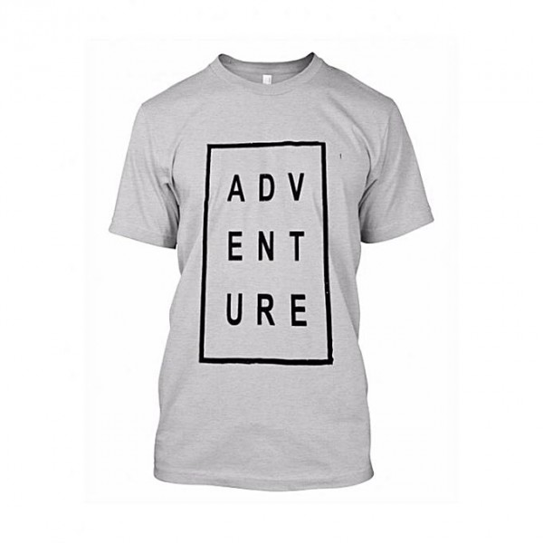 Grey Color Adventure Printed T shirt for Him
