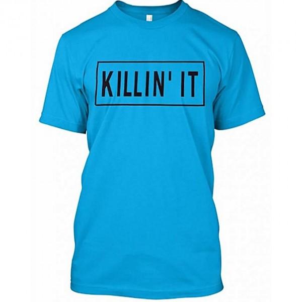Turquoise Killin it printed t shirt