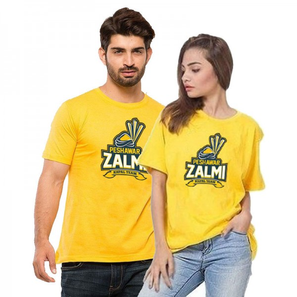 Pack of 2 Peshawar Zalmi T shirts for couples