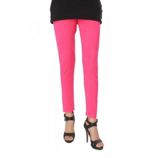 Pink Viscose Plain Tight For Her