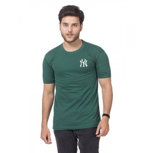 Green Police logo Printed t shirt