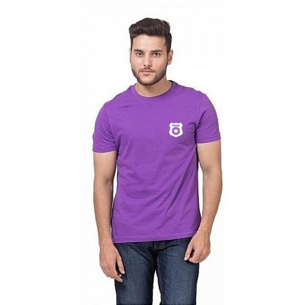 Purple Police Logo Printed T shirt