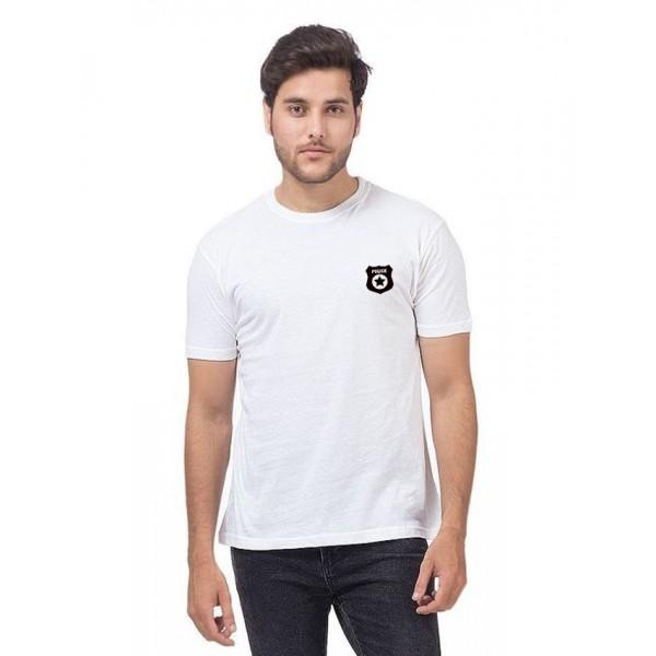 White Police Logo Printed t shirt