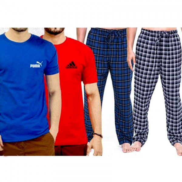 Combo of 02 T shirts With 02 Trousers for him