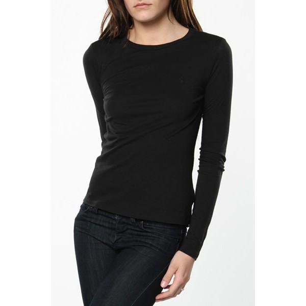 Womens Black Full Sleeves Tshirt