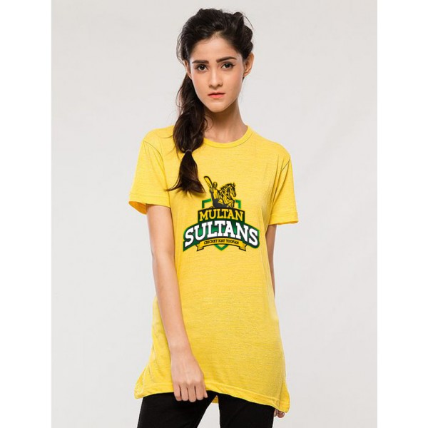 Multan Sultan T shirt For her in yellow colour