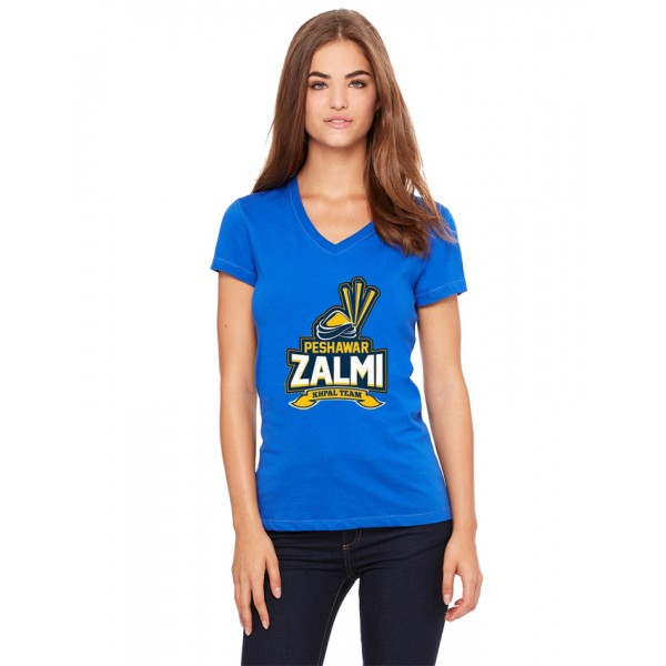 Peshawar Zalmi T shirt For her in blue colour