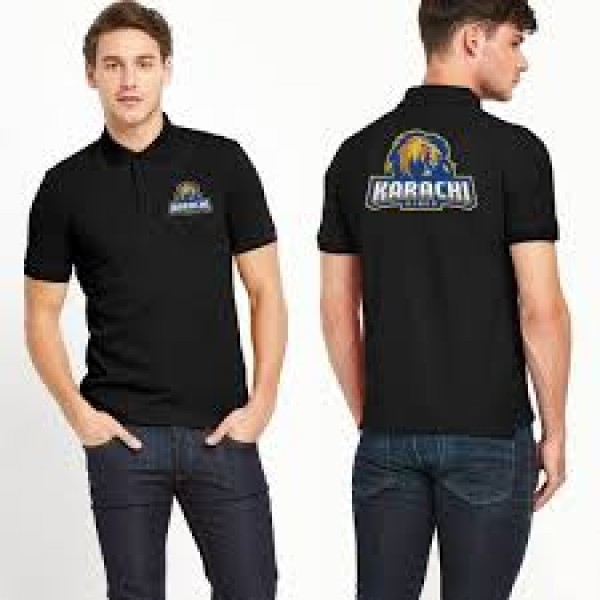 Karachi King Polo Shirt in Black Colour