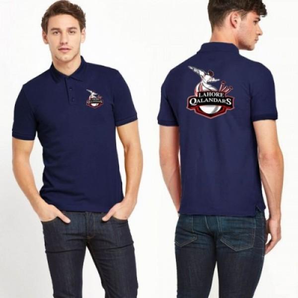 Navy Blue PSL Lahore Qalender Polo Shirt