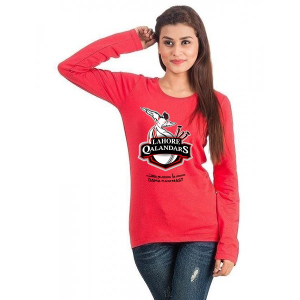 Lahore Qalender Red colour full sleeves T shirt For her