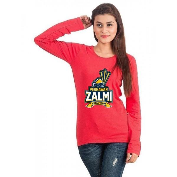 Peshawar Zalmi Red T shirt For Her