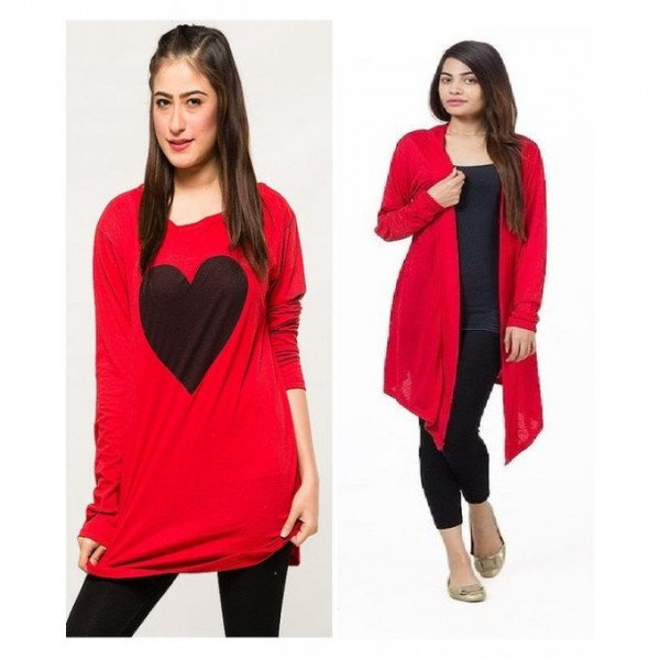 Bundle of 2 tops For Her in Red Colour