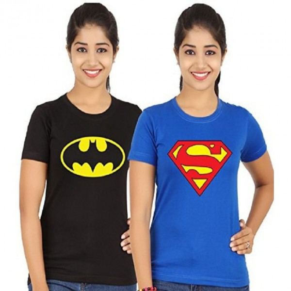 Pack of 02 Super Hero T shirt For Her
