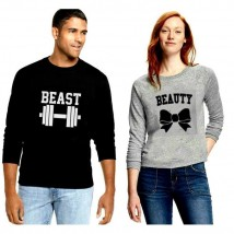 Beauty and Beast Printed T shirt Bundle For Couple