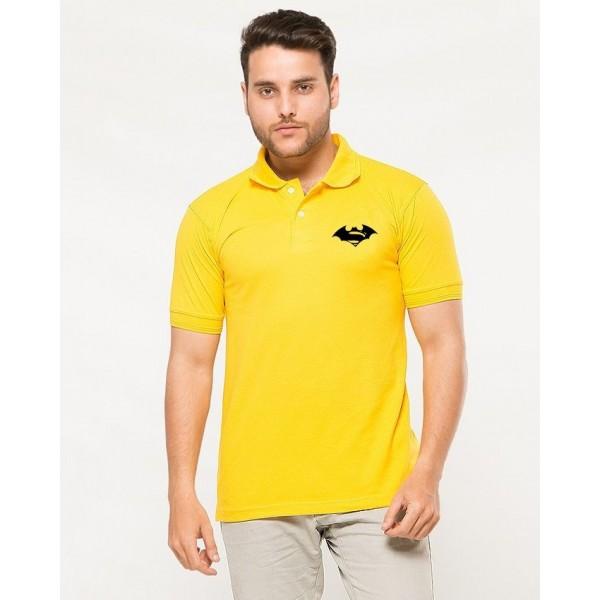 Yellow Superman VS Batman Polo T-Shirt for Men