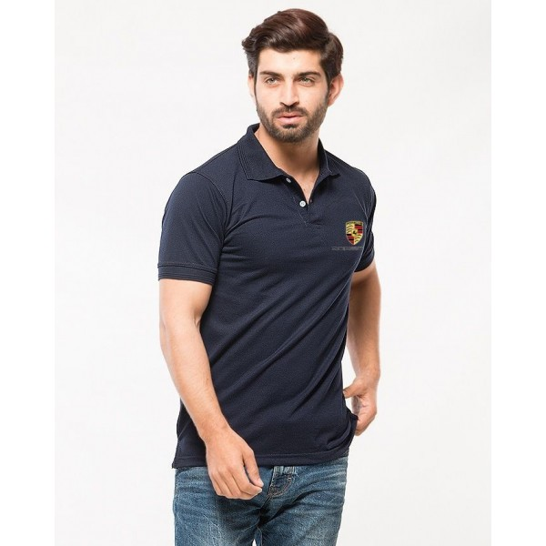 Navy Blue stylish Polo Tshirt For Men