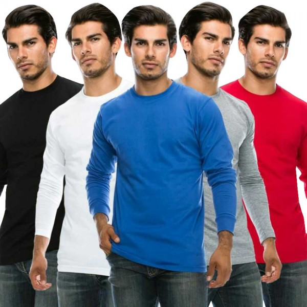 Pack of 05 Round Neck Full Sleeves T shirts