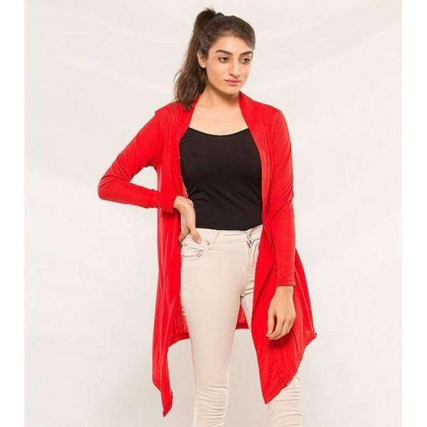 Womens Red Shrug For Her
