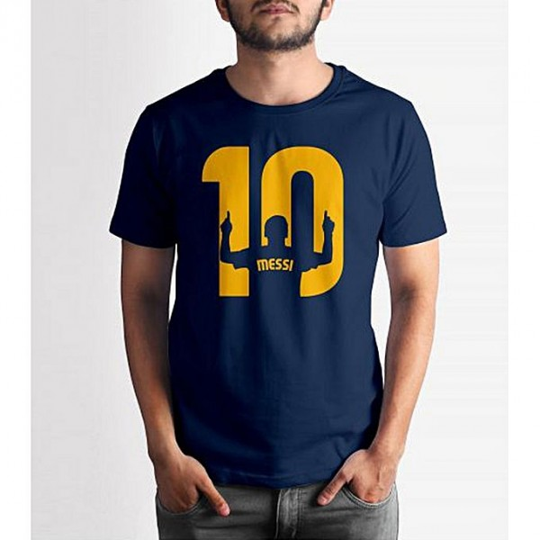 Navy Blue Messi Printed T shirt For Him