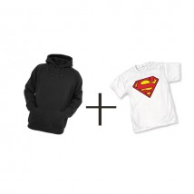 1 Hoodie With Super Man T shirt