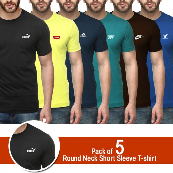 Pack of 5 short sleeves t shirt for him
