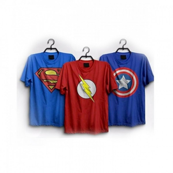 Pack of 3 Super Heroes Printed T shirts