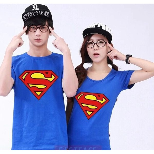 Pack of 2 Superman t shirts for couple