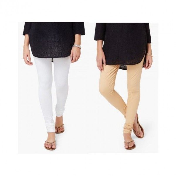 Pack of 02 Plain chooridar Tights For Her