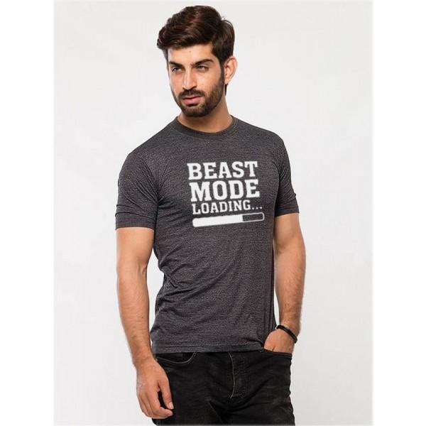 Charcoal Beast Mode Graphics T shirt