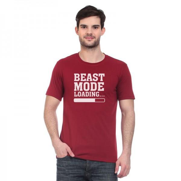 Maroon Beast Mode Graphics T shirt
