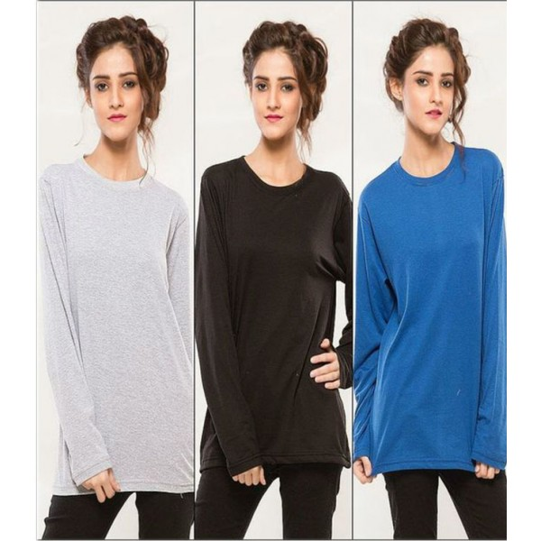 Pack of 03 Full Sleeves T shirts For Her